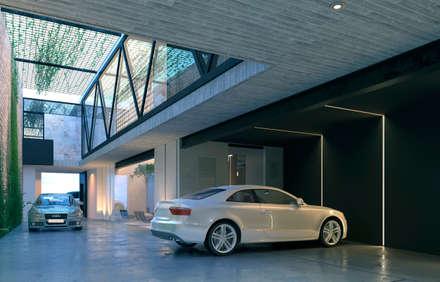 NP CC: Garajes de estilo minimalista por Edgardo Esquiliano Arquitectura