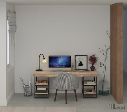 scandinavian Study/office by Lagom studio