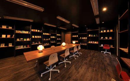 図書室2: 猪股浩介建築設計 Kosuke InomataARHITECTUREが手掛けた書斎です。