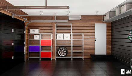 Garajes de estilo escandinavo de GM-interior