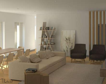 Residential building in Lisbon 2: Salas de estar minimalistas por Lagom studio