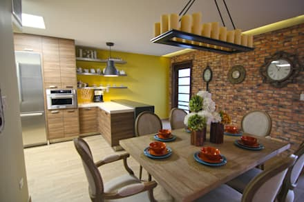 eclectic Dining room by Lo Interior