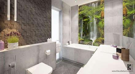 Łazienka z potokiem: styl , w kategorii Łazienka zaprojektowany przez Klaudia Tworo Projektowanie Wnętrz
