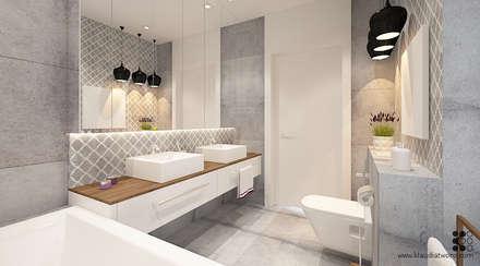 modern Bathroom by Klaudia Tworo Projektowanie Wnętrz
