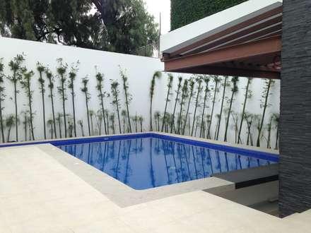 modern Pool by CESAR MONCADA S