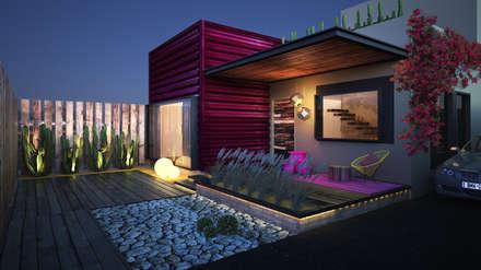 Casa R08: Casas de estilo moderno por Rotoarquitectura