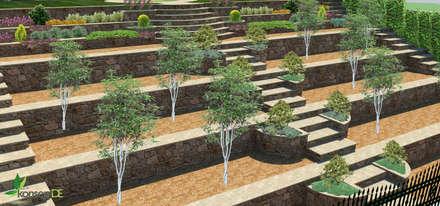 สวน by konseptDE Peyzaj Fidancılık Tic. Ltd. Şti.