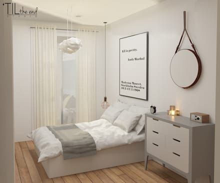 Apartment in Belém: Quartos escandinavos por Lagom studio