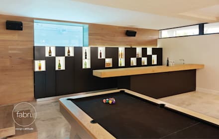 modern Wine cellar by FABRI
