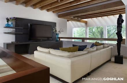 modern Media room by MARIANGEL COGHLAN