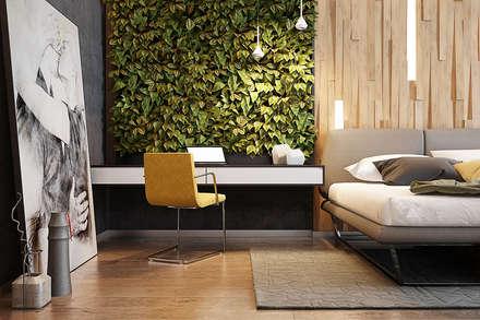 Спальня в стиле эко: Спальни в . Автор – Solo Design Studio