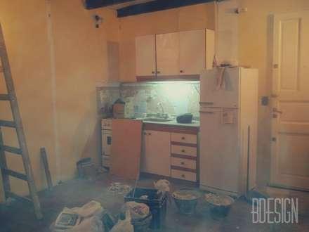 Obra demolicion antes: Cocinas de estilo industrial por Estudio BDesign