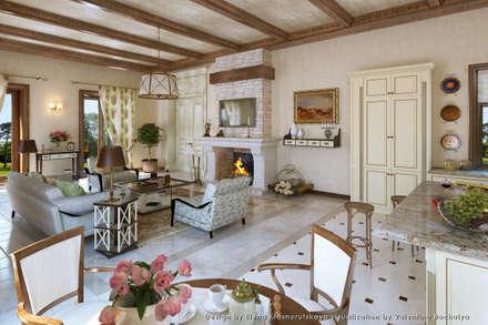 mediterranean Living room by Хауспрофи