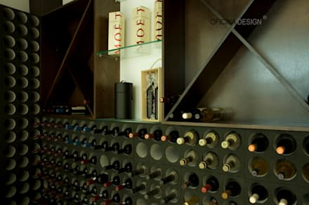 minimalistic Wine cellar by Oficina Design