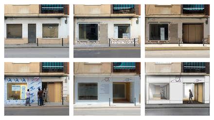 Proceso realización fachada: Clínicas de estilo  de Búhoblanco arquitectos