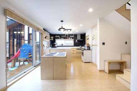 회현리 주택: 풍경하임의  주방