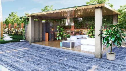 GRNT3D – villa 05: klasik tarz tarz Bahçe