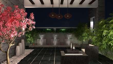 RESIDENTIAL INTERIOR, MYSORE. (www.depanache.in):  Terrace by Depanache Interior Architects