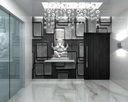 RESIDENTIAL INTERIOR, MYSORE. (www.depanache.in):  Corridor & hallway by De Panache  - Interior Architects