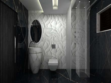 RESIDENTIAL INTERIOR, MYSORE. (www.depanache.in): modern Bathroom by Depanache Interior Architects