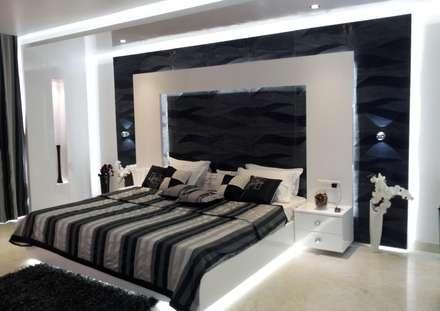 RESIDENTIAL INTERIOR, MYSORE. (www.depanache.in): modern Bedroom by Depanache Interior Architects
