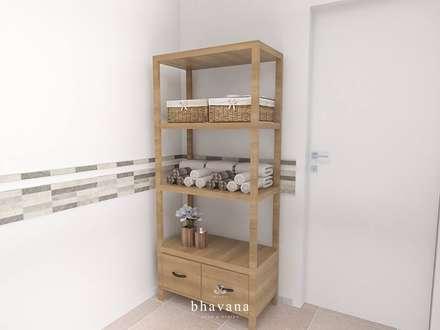 Toilette: Baños de estilo escandinavo por Bhavana