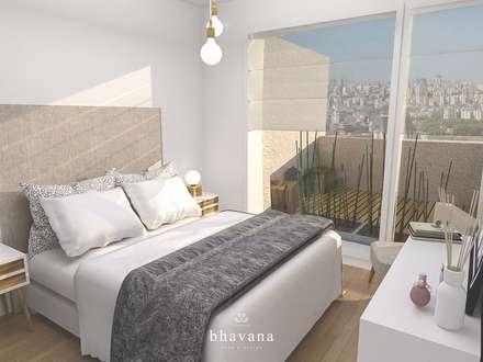 Dormitorio Principal: Dormitorios de estilo escandinavo por Bhavana