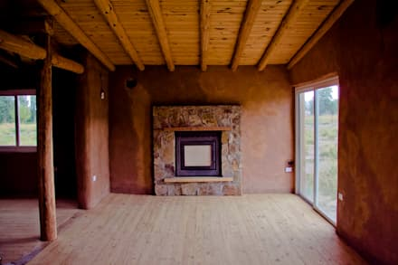CASA MAZZOLI: Livings de estilo rural por bioma arquitectos asociados