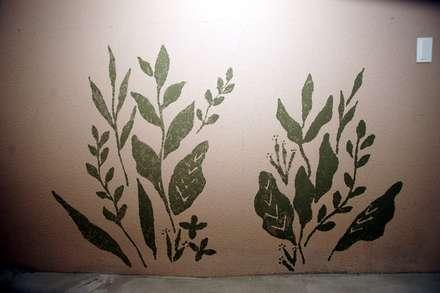 유니스의정원(이풀실내정원) 인테리어벽화: 몰핀아트의  복도 & 현관