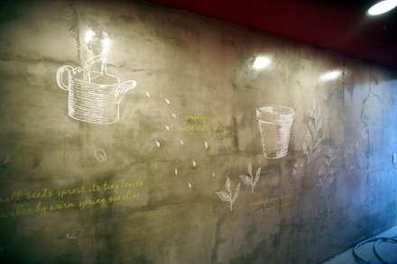 유니스의정원(이풀실내정원) 인테리어벽화: 몰핀아트의  베란다