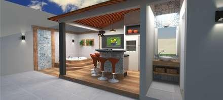 Spa de estilo moderno por Aline Falci Arquitetura  e Interiores