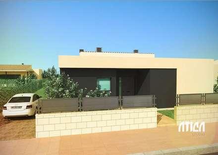 Proyecto 02: Casas de estilo moderno de ATICA Studio