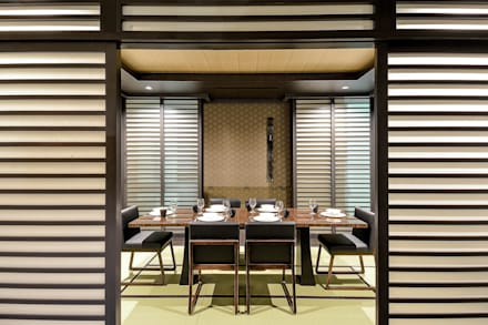 Kasara Townhouse: asian Dining room by Design Intervention