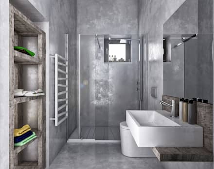 industrial Bathroom by homify