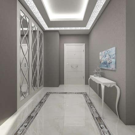 modern Corridor, hallway & stairs by Treso İç Mimarlık