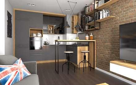 industrial Kitchen by malee