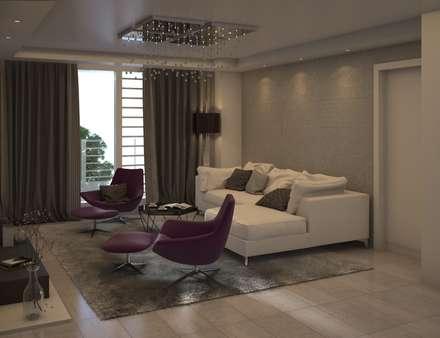 Diseño de Sala Moderna: Salas de entretenimiento de estilo moderno por Gabriela Afonso