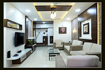 Residence Modern Living Room By Archsmith Project Consultant