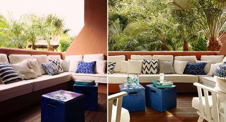 Casa en el Mediterráneo: Jardines de invierno de estilo minimalista de MLMR