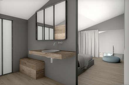 Corps de ferme réhabilité: Salle de bain de style de style Moderne par réHome