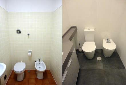 Remodelação de Apartamento, Braço de Prata : Casas de banho modernas por Happy Ideas At Home - Arquitetura e Remodelação de Interiores