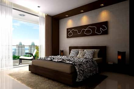 Interior designs: modern Bedroom by Spacious Designs Architects  Pvt. Ltd.