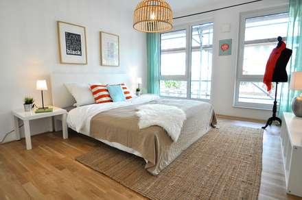 Kleine Musterwohnung In Türkis/orange: Landhausstil Schlafzimmer Von Karin  Armbrust   Home Staging