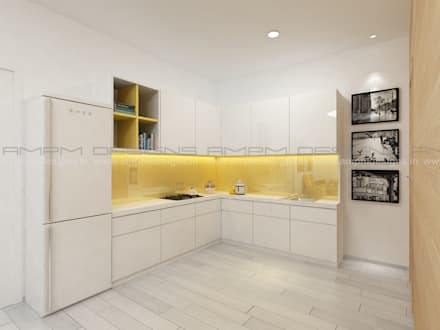 KITCHEN: modern Kitchen by AMPM DESIGNS