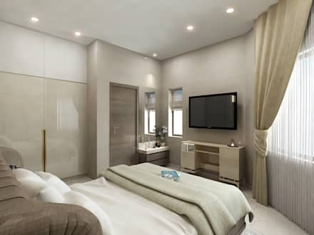 Villa project: eclectic Bedroom by AMPM DESIGNS