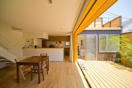 食堂・台所: 早田雄次郎建築設計事務所/Yujiro Hayata Architect & Associatesが手掛けたキッチンです。