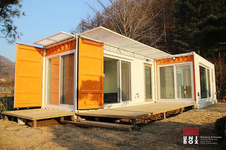 경기도 양평 UNIBOX HOUSE:  (주)감동C&D 유니박스의  주택