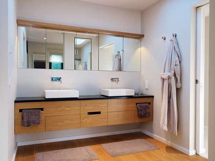 Bathroom: modern Bathroom by Baufritz (UK) Ltd.