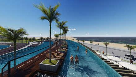 Sun Sol Playa el Agua: Hoteles de estilo  por NOGARQ C.A.