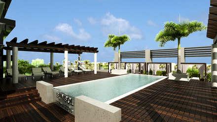 Sun Sol Aeropuerto: Hoteles de estilo  por NOGARQ C.A.